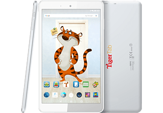 ODYS TigerTab 8 16 GB   8 Zoll Kinder Tablet Türkis/Weiß