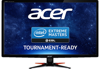 ACER GN246HLBbid, Monitor mit 61 cm / 24 Zoll Full-HD Display, 1 ms Reaktionszeit, Anschlüsse: 1x VGA, 1x DVI (w/HDCP), 1x HDMI, Line out