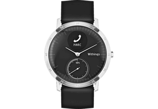 WITHINGS  Activité STEEL HR, Active Tracker, 40 mm, Silikonband, Schwarz