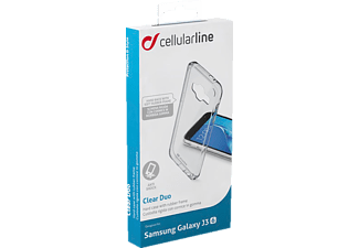 CELLULAR LINE CLEARDUOGALJ316T, Backcover, Galaxy J3 (2016), TPU, Transparent