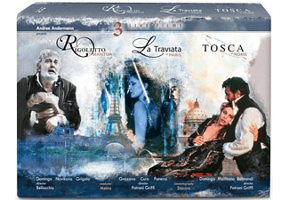 Domingo/Malfitano - Rigoletto/La Traviata/Tosca - (Blu-ray)