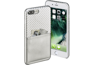 HAMA Carbon, Backcover, Apple, iPhone 7 Plus, Carbon-PU, Silber