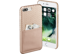 HAMA Carbon, Backcover, Apple, iPhone 7 Plus, Carbon-PU, Rosegold