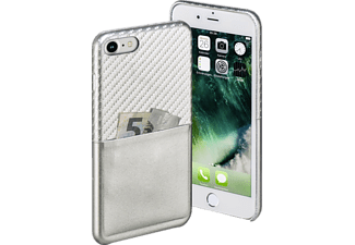 HAMA Carbon, Backcover, Apple, iPhone 7, Carbon-PU, Silber