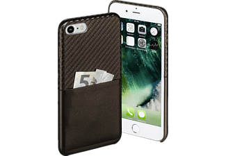 HAMA Carbon, Backcover, iPhone 7, Carbon-PU, Braun