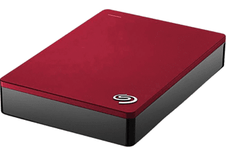SEAGATE Backup Plus Slim Portabel Hårddisk 4 TB  - Röd