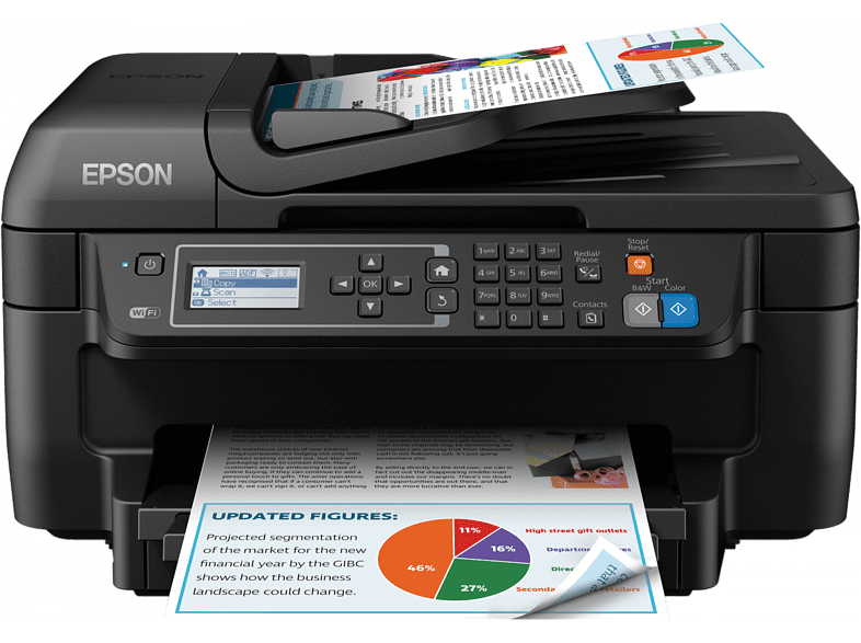 EPSON Inkjet πολυμηχάνημα με Fax - WorkForce WF-2750DWF laptop  tablet  computing  εκτύπωση   μελάνια πολυμηχανήματα computing   tablets