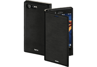 Slim Bookcover Sony Xperia X Compact High-Tech-PU Schwarz