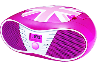 BIGBEN CD58, Radiorecorder, Union Jack Pink