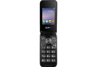 ALCATEL OneTouch 20.51D, Handy, 2.4 Zoll, 8 MB, Metal Silber