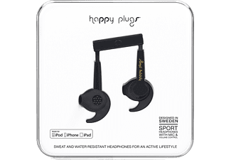 HAPPY PLUGS MFi Sport in-ear hörlurar - Svart