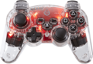 BIGBEN PS3 RF-Backlight Controller Rot, Controller, Transparent/Rot