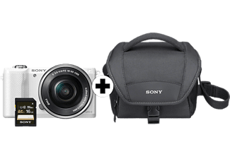 SONY Alpha 5000 Sonder Kit Systemkamera 20.1 Megapixel mit Objektiv 16-50 mm f/5.6, 7.5 cm Display