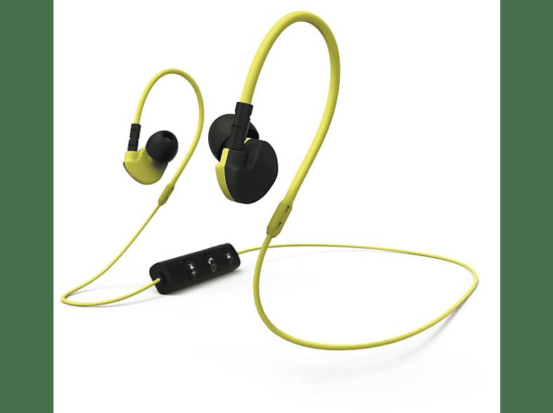 HAMA Active BT Clip-On Sports Earphones Black/ Yellow - (177095) τηλεόραση   ψυχαγωγία ακουστικά ακουστικά in ear τηλεφωνία   πλοήγηση   offline