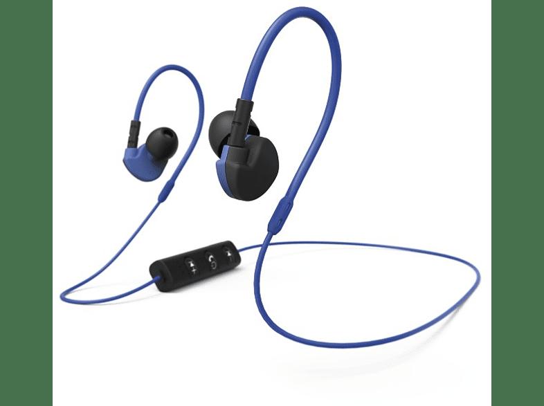 "HAMA ""Active BT"" Clip-On Sports Earphones Black/ Blue - (177096) τηλεόραση   ψυχαγωγία ακουστικά ακουστικά in ear τηλεφωνία   πλοήγηση   offline"
