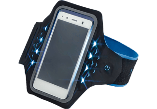 "HAMA ""Active"" Sports Armband for Smartphones, with LEDs, size XXL Blue"