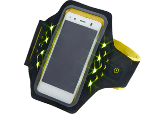 "HAMA ""Active"" Sports Armband for Smartphones, with LEDs, size XXL Yellow"