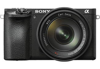SONY Alpha 6500 Zoom Kit Systemkamera, 24.2 Megapixel, 4K, Full HD, APS-C CMOS Sensor, Externer Blitzschuh, Near Field Communication, 16-70 mm Objektiv, Autofokus, Touchscreen, Schwarz