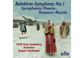 E./USSR State SO Svetlanov - Sinfonie 1/Symphonic Poems - (CD)
