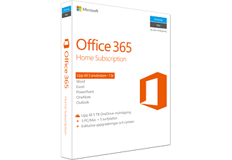 MICROSOFT Office 365 Home - 5 PC - eller Mac