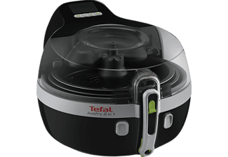 TEFAL YV 9601 ActiFry, Friteuse, 1500 g, Schwarz/Silber