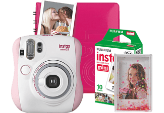 FUJIFILM Instax Mini 25 Magic Set Sofortbildkamera, Pink/Weiß