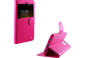 VOLTE-TEL Θήκη Samsung Galaxy J1 2016 J120 Leather-TPU View Book Pink - (5205308161957)