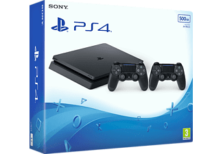SONY Nya PlayStation 4 Slim (inkl 2 st handkontroller) - 500 GB