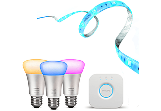 PHILIPS Hue, Starter Set E27, incl. Bridge, Lightstrip+ 2m Basis