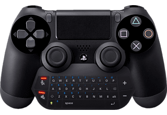 PIRANHA 397042 Controller mit Audio, Chat Pad Bluetoothfür PS4, Schwarz