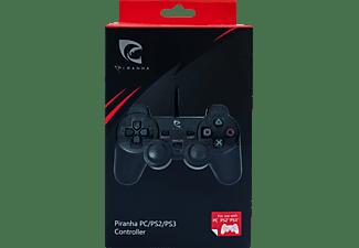 PIRANHA 397231 Wired Controller für PS2/PS3 und PC, Controller, Schwarz