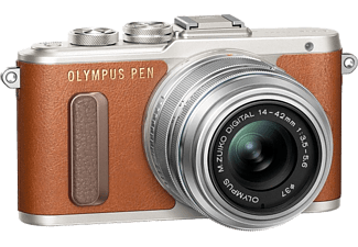 OLYMPUS E-PL8 Pancake Kit EZ-M 14-42mm EZ Brown/Silver - (V205082BE000)