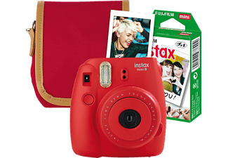 FUJIFILM INSTAX MINI 8 HIMBEER TRAVEL SET, Sofortbildkamera
