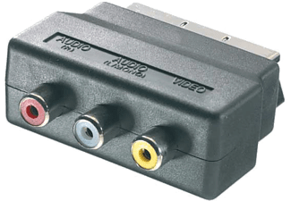 VIVANCO Scart - 3x RCA in, 0.2m - Svart