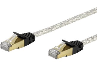 VIVANCO Nätverk CAT6 RJ45. 10m. - Transparent