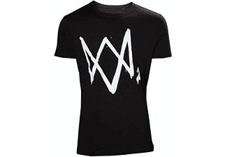Watch Dogs 2 T-Shirt -L- Large Logo Schwarz