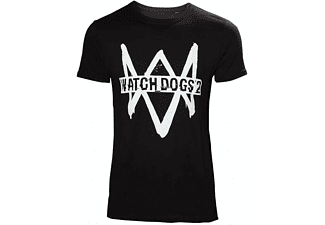 Watch Dogs 2 T-Shirt -L- Logo Schwarz