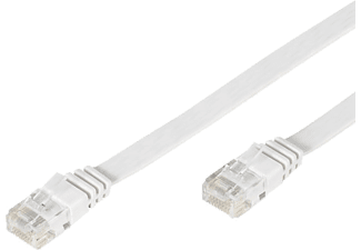 VIVANCO Nätverk Cat5e RJ45. 2m. flat.  - Vit