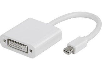 VIVANCO Mini DisplayPort - DVI hona. 0.1m - Vit