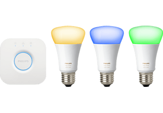 PHILIPS 59294600 Hue Starter-Set, Starter Kit, 10 Watt, HomeKit, QIVICON, SmartHome, ZigBee