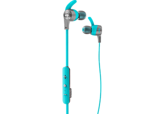 MONSTER iSport Achieve Wireless, In-ear Kopfhörer, Headsetfunktion, Bluetooth, spritzwassergeschützt, Blau
