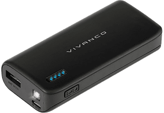 VIVANCO Power Bank 6700 mAh Micro USB - Svart