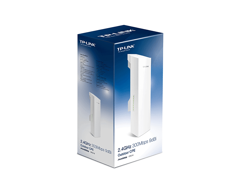 TP LINK CPE 2.4GHz 300Mbps 9dBi Outdoor - (CPE210) laptop  tablet  computing  δικτυακά access point  router  range extender  switch