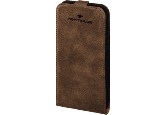 TOM TAILOR Authentic, Flip Cover, Galaxy S7, Obermaterial Leder, Braun