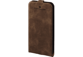 TOM TAILOR Authentic, Flip Cover, Samsung, Galaxy S7 Edge, Leder (Obermaterial), Braun