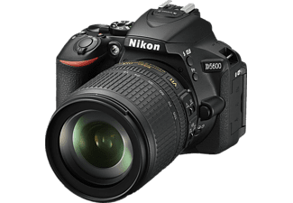 NIKON D5600 Kit Spiegelreflexkamera, 24.2 Megapixel, Full HD, CMOS Sensor, Near Field Communication, 18-105 mm Objektiv (VR, AF-S, DX), Autofokus, Touchscreen, Schwarz