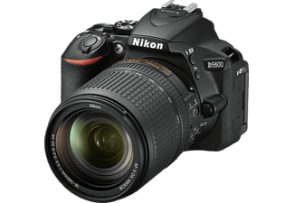 NIKON D5600 Kit Spiegelreflexkamera, 24.2 Megapixel, Full HD, CMOS Sensor, Near Field Communication, 18-140 mm Objektiv (AF-S, ED, DX, VR), Autofokus, Touchscreen, Schwarz