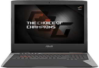ASUS G752VS-BA183T, Gaming-Notebook mit 17.3 Zoll Display, Core™ i7 Prozessor, 16 GB RAM, 512 GB SSD, 1 TB HDD, GeForce GTX 1070, Silber