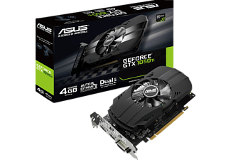 ASUS GeForce GTX 1050Ti PH 4GB (90YV0A70-M0NA00)( NVIDIA, Grafikkarte)