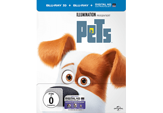 Pets (Steel-Edition) Exclusiv Media Markt [3D Blu-ray]